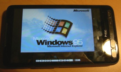Windows-95 on htc hd2