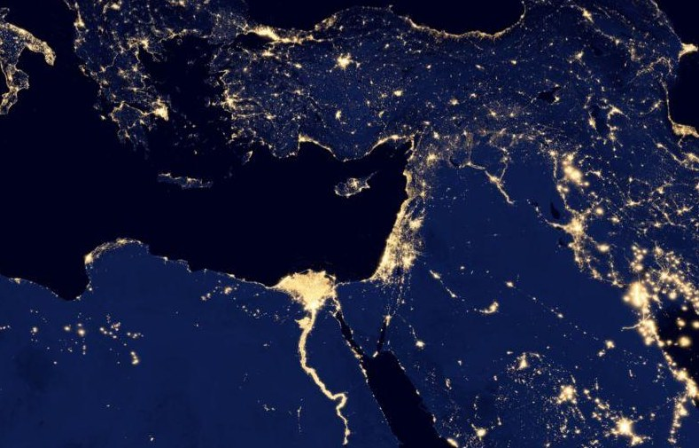Google and nasa Earth at Night 2012