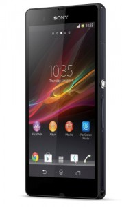 Xperia Z front 40 dry