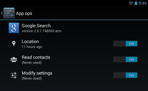 Android 4.3 app-ops