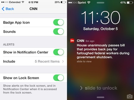 iOS 7 Notification center 4