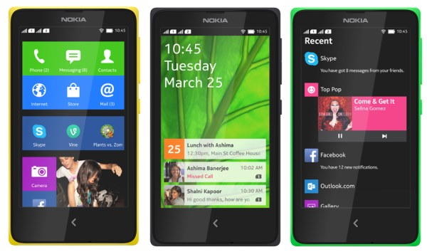Nokia X-screens
