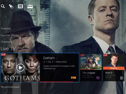 Sony's PlayStation Vue is a cloud-based TV service