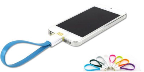Magnet Flat Short 5Pin Micro USB Data Charger Cable