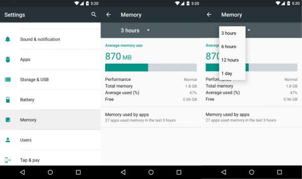 android-m memory