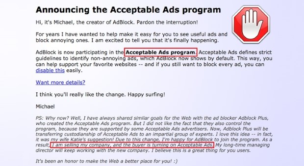 Content uploads advertising acceptability