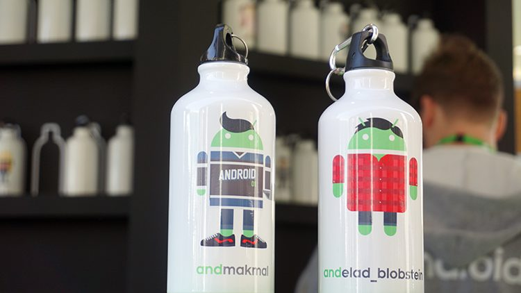Google androidify android logo water bottle