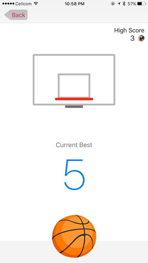 Messenger Basketball game