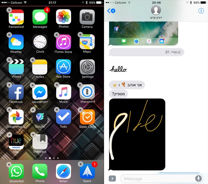 Apple iOS 10 remove apps and imessege