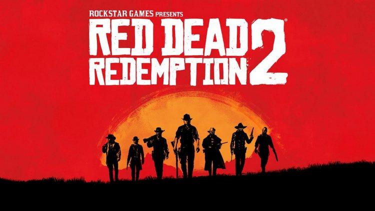 red dead redemption 2 שבעה בוקרים על רקע שקיעה